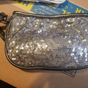 Brand New with Tags! Silver Sequin Wristlet